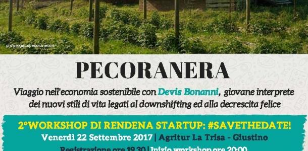 All'Agritur La Trisa il workshop Pecoranera. Ripartono gli incontri di Rendena StartUp promossi dalle Casse Rurali Pinzolo e Val Rendena e associazione La Giovane Rendena