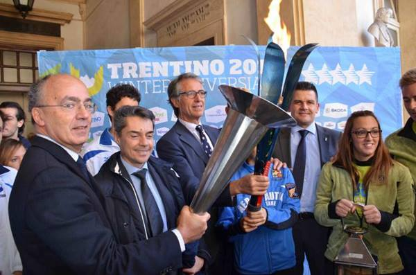 torino fiaccola universiade Trentino 2013
